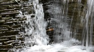 Stock Video Footage of Symmetry water cascade in park