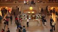 Stock Video Footage of Time Lapse - Grand Central Terminal Interior MS