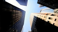 Giant Sky blocks built for the Urban population of a large  American city, USA Stock Footage