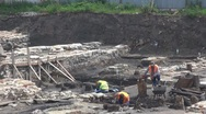 Stock Video Footage of Man working on archaeological site