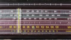 retro radio dial vintage - stock footage