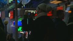 ESPN ZONE siren NYC Stock Footage
