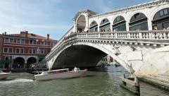 Venice Grand Canal Rialto Bridge P HD 1136 Stock Footage