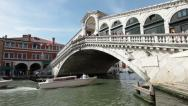 Stock Video Footage of Venice Grand Canal Rialto Bridge P HD 1136
