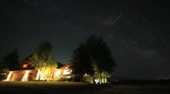 Stock Video Footage of Stars over house timlapse stationary