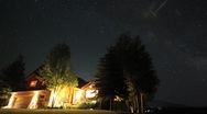 Stars over house timelapse dolly shot Stock Footage