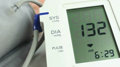 Blood Pressure Examination Stock Footage