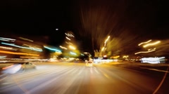 Time Lapse, Point of view driving at night Manhattan, NY, USA Stock Footage