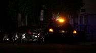 Traffic Stop at Night HD Stock Footage