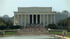 Lincoln Memorial and reflecting pool, Washington D.C. - stock footage