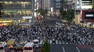 Stock Video Footage of Shibuya street crossing