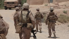 Marines in Afghanistan (HD)c Stock Footage