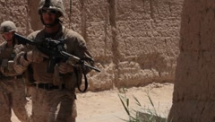 Marines in Afghanistan (HD)c - stock footage