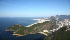 Aerial view of Rio de Janeiro Brazil beach Copacabana zoom in Full HD  1080P Stock Footage