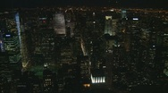 Zoom in and out of traffic from skyscraper in New York Stock Footage