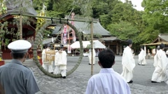 Festival at Tsurugaoka Hachimangu Shrine in Kamakura on June 30th, 2011 Stock Footage