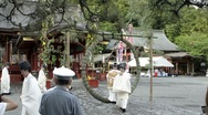 Stock Video Footage of Festival at Tsurugaoka Hachimangu Shrine in Kamakura on June 30th, 2011
