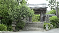 Jomyoji Temple gate Stock Footage