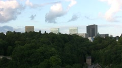 Luxembourg - Kirchberg-Plateau Stock Footage