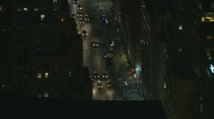 Stock Video Footage of NYC night traffic (in and out focus)