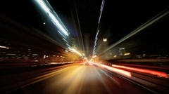Time Lapse, Point of view driving at night Manhattan, NY, USA - stock footage