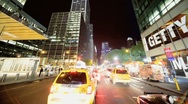 Stock Video Footage of Time Lapse Point of View driving Midtown Manhattan, NY, USA