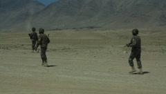 Afghan National Soldiers (HD)c - stock footage