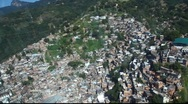 Stock Video Footage of Favela aerial Rio de Janeiro Brazil flight FULL HD 1080P