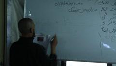 Afghan Writing (HD)c - stock footage