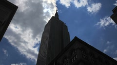 Stock Video Footage of Empire State Building Silhouetted