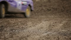 Racing on special machines Stock Footage