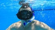Underwater swimming Stock Footage