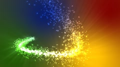 Rainbow Magic Particles - stock footage