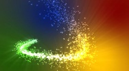 Stock Video Footage of Rainbow Magic Particles