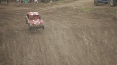 Extreme in a track Stock Footage