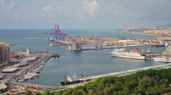 Port of Malaga V1 Stock Footage