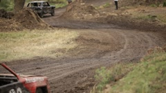 Winding track Stock Footage