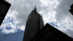 Empire State Building Silhouette Stock Footage