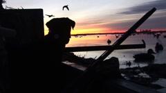 Duck Hunting Sunrise Stock Footage