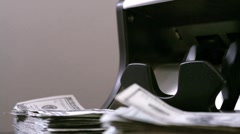 Money Counter Stock Footage