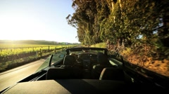 Driving Through the Vineyards of Napa Valley - stock footage