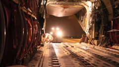 Loading Cargo into U.S Air Force Plane (HD)c Stock Footage