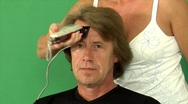Haircut extreme time lapse 1 Stock Footage