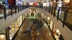 Parque Atlantico shopping center Stock Footage