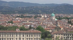 Panoramic view of Jewish Synagogue, Florence, Italy Stock Footage