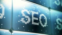 SEO (Search Engine Optimization) Screen Animation HD Stock Footage
