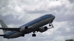 Boeing 737 from KLM taking off Stock Footage