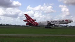 Martinair Cargo plane takes off Stock Footage