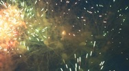 Fourth of July Fireworks Stock Footage