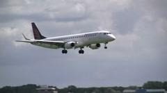 Augsburg Airways landing Stock Footage